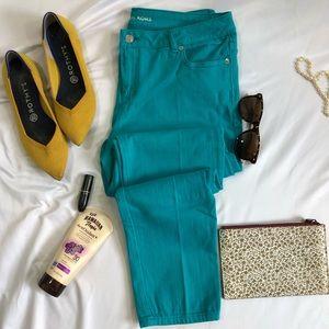 Michael Kors Skinny Jeans 10 stretch aqua A15